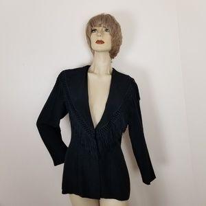 Vintage Jackets & Coats - Vintage fringe Knapp studio jacket/blazer